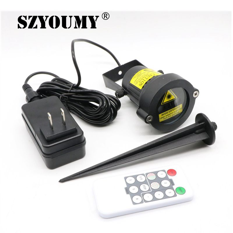 SZYOUMY Remote Christmas Outdoor Laser Light Star Show Projector Waterproof Lights For Holiday Xmas Tree Decorations Garden Lamp<br>