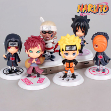 Naruto Cosplay Uzumaki Naruto Q Version 6cm/2.4'' PVC GK Garage Kits Action Figures Toys Model 6Pcs/Set