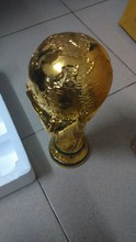 1:1 36cm 2KG World Cup Football trophy Resin Replica Trophies Model Brazil World Cup Best Soccer Fan Souvenir Gift Free Shipping