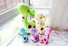 38cm colorful lovely giraffe plush toy, giraffe stuffed animal doll, girafa de pelucia giraffe toy