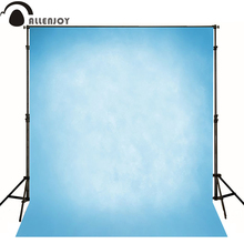 Allenjoy Thin Vinyl cloth photography Backdrop blue Pure Color Computer Printing Background Wedding Baby backdrop MH-069(China)
