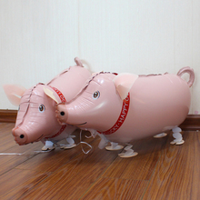 New arrival Pig Walking animals balloon Birthday party supplies decoration cartoon balloons Free shipping wholesales 10pcs/lots