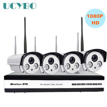 4ch 1080P HD Wireless IP Camera NVR CCTV security System 2mp wi-fi NVR kit Outdoor IR Wifi P2P IP Camera surveillance nvr system