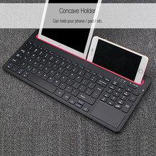 B021 Ultra-slim ABS Wireless Bluetooth Keyboard with Multi-touch Mouse Touchpad Both Hands with Lithium-ion Battery(China)