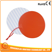 Electric 12v Heating Pad Silicone Heating Pad/Mat/Sheet Dia 100mm, 100w@12v(China)