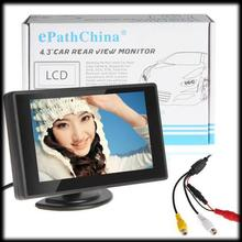 by DHL or EMS 30 pieces 4.3'' Color TFT Color LCD Car Rearview Mini Monitor Support 2 Channels Video Input