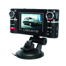 "2.7"" 16:9 Display Double camera Lens F30 Dual Lens Driving Recorder Night Vision Car DVR with G-sensor TV out Digital Zoom"