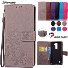 Biencaso PU Leather Wallet Flip Case For LG G3 G4 G5 K4 K5 K7 K8 K10 2017 L70 Ray Spirit X Power V20 LS775 Stylo2 Plus Cover B61(China)