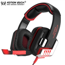 G8200 Wired 7.1 Surround Micro USB Interface 50mm Driver Unit Vibration Gaming Headphones with Mic LED Light for PC Gamer(China)