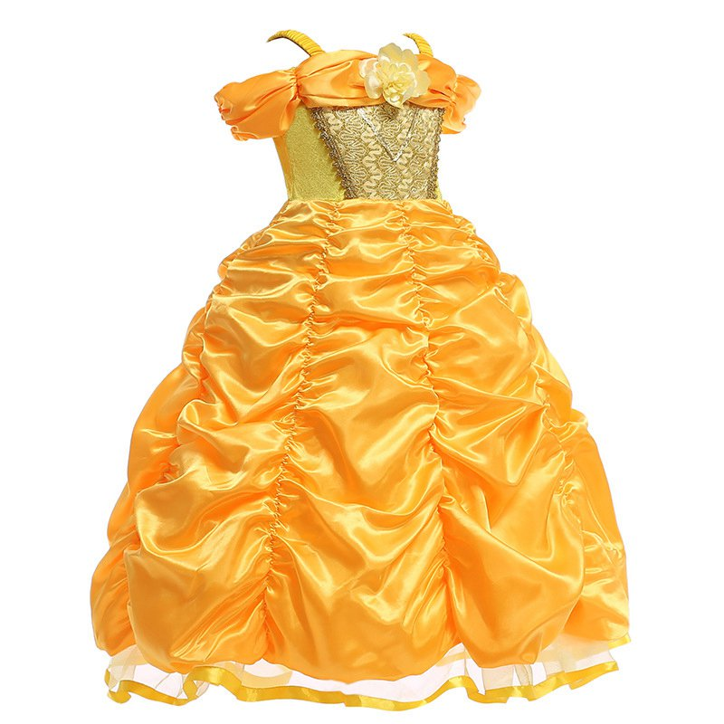 Girls Belle Cosplay Costume (3)
