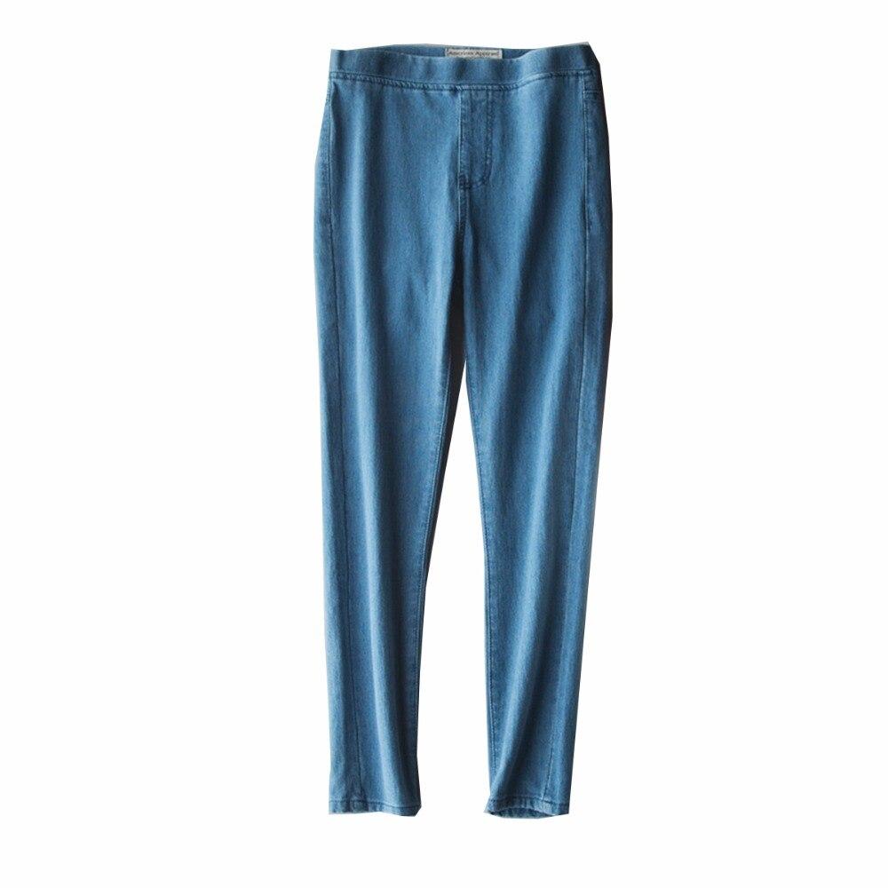 2017 New Arrival Women Jeans Hight Waist Fashion Ankle-Length Skinny Elastic Pencil Pants Slim Female Vintage Jeans for Women Îäåæäà è àêñåññóàðû<br><br>