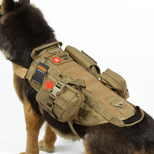 SPANKER Nylon Camo Print Military Dog Clothes Suit Outdoor Hunting Accessories Tactical Training Dog Vest Clothes Pets Universal