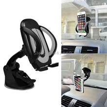 360 Degree Car Windscreen Dashboard Mount Stand Holder For Smart Cell Phone For iphone GPS -R179 Drop Shipping