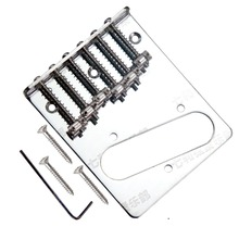 1 set Chrome 6 Saddle Bridge for Telecaster TL Style Replacement Guitar parts