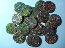 50pcs/Lot  Free Shipping Factory Price  10mm Synthetic  Round Double Flat Back Opal ,  Round Slice  Opal