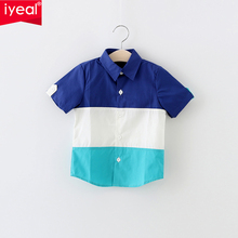 IYEAL Children Short-Sleeve Shirts Boys Clothes 2017 Spring &Summer Fashion Striped Casual Child Tops Wear Kids Shirts for 2-7 Y(China)
