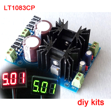 LT1083CP high-power linear hifi regulated DC POWER BOARD KIT two channel output + LED digital voltmeter