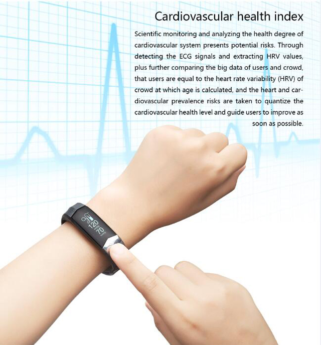 CD01 Graphene ECG HeartRate Blood Pressure Smart Bracelet for iphone Android Sleep Pedometer Activity Tracker Call SMS Reminder 8
