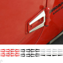 Black / Red / Chrome Car Exterior Door Hinge Covers Trim Sticker for 2Doors / 4 Doors Jeep Wrangler 2007-2017 Car Styling ABS(China)