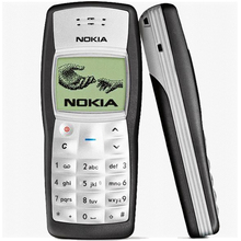 HOT cheap original Nokia 1100 unlocked GSM mobile phone with russian menu multi Languages! free shipping Refurbished(China)