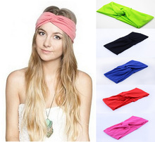Fashion Women Lady Crochet Bow Knot Turban Knitted Head Wrap Hairband Ear Warmer Headband Hair Band Accessories