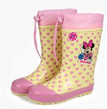 Children's Rain Boots wellies cute cartoon Girls slip Baby shoes, overshoes Water shoes for Children Rubber boots