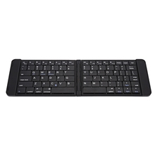 B023 Ultra Thin Light 80 Keys Mini Bluetooth Folding Pocket Keyboard Mouse Touchpad with Two Layers for Win iOS Android