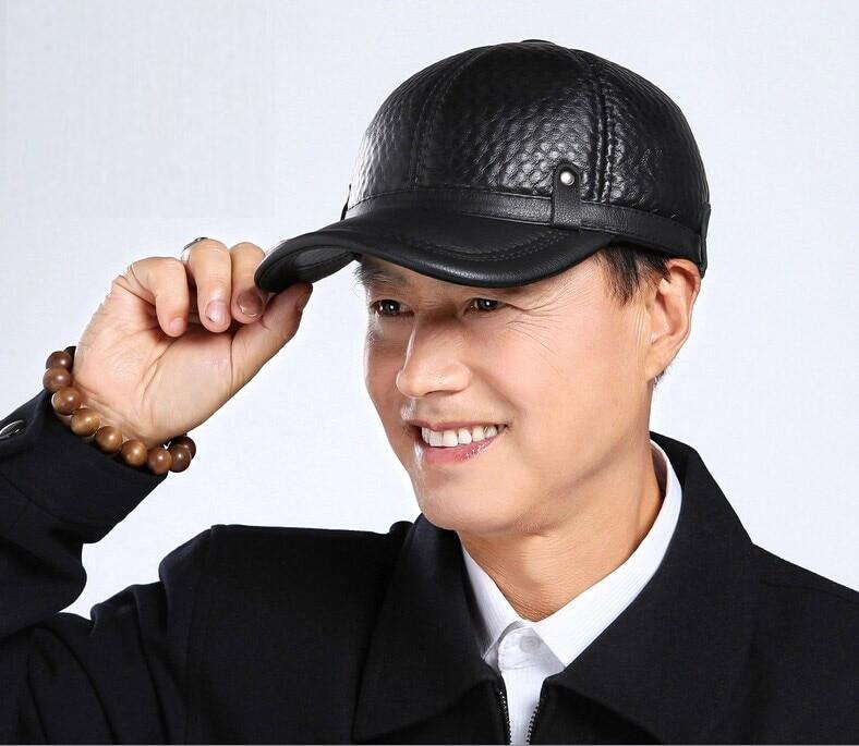 New Fashion Plaid Design Baseball Caps 2017 Winter Warm Cap Men Earflap Adjustable Hats Protective Ear Thicken Hat Freeshipping <br>