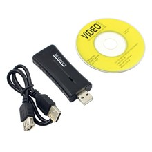 Portable USB 2.0 Easycap Video Audio Capture Card  Adapter DVD Converter Composite Audio To Easy Cap Video Adapter