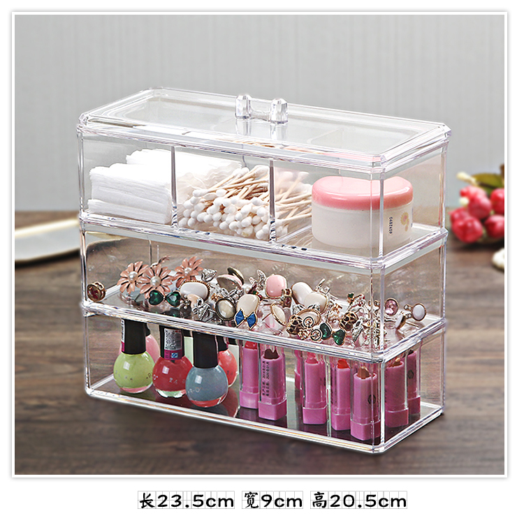 Organizador Hot Sale 2017 Acrylic Makeup Organizer Rangement Maquillage Crystal of Cosmetics Included In The of Home Storage (21)