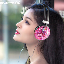 Crystal Headphones for young girl diamond Anti-noise for Music Earphones for iphone 6s PC headset For samsung s8 huawei p9 lite
