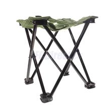 Portable Fold Fishing Stool Pocket ChairOutdoor Collapsible Camp Beach Seat