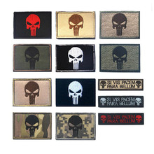 The Punisher Military 3D 100% Embroidered Tactical Morale Patch Hook & Loop Embroidery Badge Emblem Decorative Badge