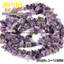 JHNBY Purple crystal Irregular Gravel beads High quality Natural crystal stone 88cm Chips beads Jewelry bracelet accessories DIY()