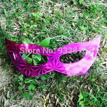 New Arrival Multi Color Paper Venetian Masquerade Masks Eye Mask Party Favor Supplies 100pcs/lot MA23(China)