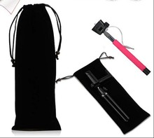1PC Black Monopod Storage Bag Travel Pouch Bag For Selfie Stick Power Bank Ipad Headphone container Carry Cases With Drawstring