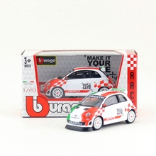 Free Shipping/BBurago/1:43 Car/Abarth Fiat 500 Assetto Corse Car/Educational Collection/Model/Children/Delicate Gift