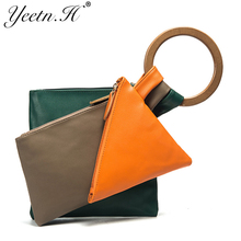 Yeetn.H New Arrival Woman Bag Fashion Handbag Creative Top-handle Bag Colorful PU leather Casual Tote For Women M7435(China)