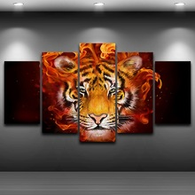 Artistic Print Drawing on Canvas Framed wall art pictures Spray Oil Painting Decoration HD Printed Home Decor Tiger Head AE0473