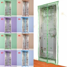 90/100 X210 cm Magnet Mosquito Net Summer Anti-mosquito Mesh magnetic Curtains Soft Yarn Door Tulle Window Screen Fly Insect