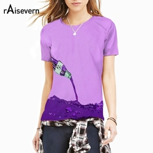 Raisevern Small Fresh Purple Color Sunshine Girl/boy Unisex Coke T-shirt 3D Printing Fruit Juice Grape Simple Short Sleeve(China)