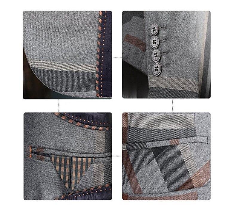HTB14X2kSFXXXXbVXFXXq6xXFXXXR - YFFUSHI Men Suit With Pants 2 Pieces Classic Grey Navy Plaid Tuxedo Business Casual Grooms Wedding Suits for Men Plus 6XL