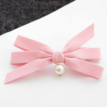 2017 New Bowknot Pearls Hair Clips Girls Ladys Headwear Cute Fabric Design Hair Accessories for Women Hairpins Barrette Hot Sale