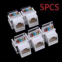 5pcs CAT5E UTP network module Tool-free RJ45 connector Information socket Computer Outlet cable adapter Keystone Jack FOR AMP(China)