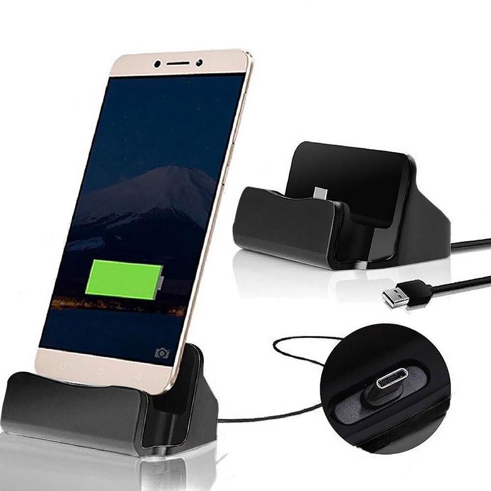 Huawei P20 Pro Lite Honor V8 V9 V10 Oneplus 3 3T 5 5T 6 Type C Dock Charger Desktop Charging Data Sync Stand Station Holder