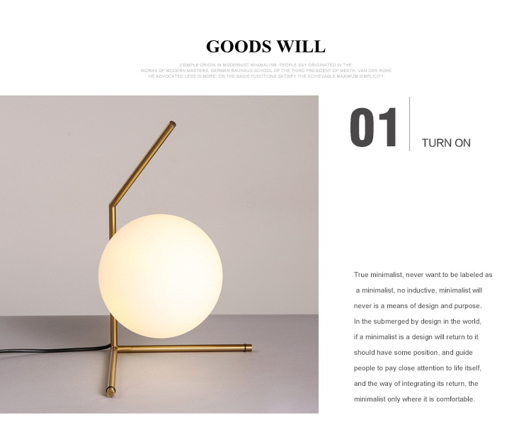Modern LED Table Lamp Nordic Design Glass Ball Bedside Table Lamps For Bedroom 6