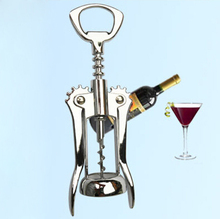 wine bottle opener Metal Angel Wings Corkscrew champagne Beer Cap Opener multifunction silver opening tool free shipping F-132