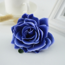 European Touch Real Latex Rose Silk Artificial Flower Bouquet Bridal Bridesmaids Hydrangeas Flower Wedding Home party Decoration(China)