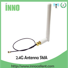 2pcs/lot 2.4GHz antenna RP-SMA Male 3dBi Wifi Antenna + IPX to RP-SMA Jack Male Pin Extension Cord Pigtail Cable(China)