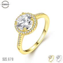 SOMMAR summer style Gold color Yellow/White color White size 6 7 8 ring for female wedding ring opal jewellery(China)